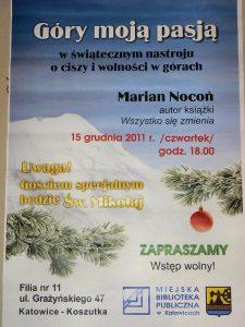 Miniatura Plakat ze spotkania świątecznego autorskiego w Bibliotece Miejskiej 15.12